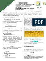 GUÍA  5 FÍSICA 1101 SEGUNDA LEY DE NEWTON