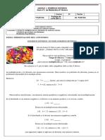 Guía 3.  8 Básico. Matemática. Unidad 1. División de enteros.