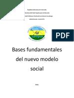 Bases fundamentales del nuevo modelo social