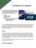 Reparation Les Obligations Du Garagiste 467 Ngdjrm