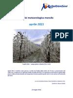 Analisi Meteorologica Aprile 2021