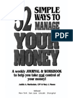 52 simple ways to mange your money