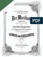 Herzogenberg, Der Musikant, Op. 66
