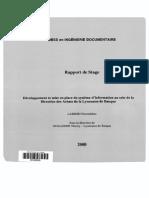 61923 Developpement Et Mise en Place Du Systeme d Information Au Sein de Lae de Banque