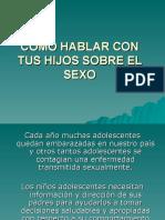 COMO HABLAR CON TUS HIJOS SOBRE EL SEXO