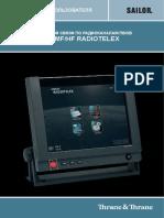 SAILOR 6000 RDO TLX User Manual 98-132519-A RU
