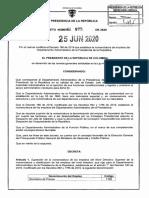 DECRETO 875 DEL 25 DE JUNIO DE 2020a
