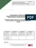 27.- PTS CONSTRUCCION DE PILOTES, INSTALACION EMPALMES DE MALLAS DE ACERO Y COLOCACION DE HORMIGON