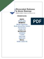tarea MERCADEO I, II & III