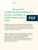 Need of architectural journalism
