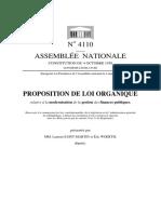 Proposition Loi Organique LOLF