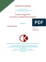 Bluetooth Technology  Seminar Report