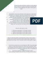 Exercicio de Fixação I - Legislação e empreendedorismo
