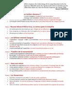 Récapitulatif des Réponses aux 102 textes longs (CE) 2019