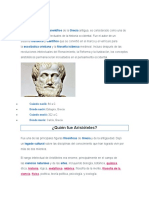 Pensamiento de Aristóteles.