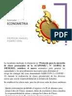 Clase 0 Programa Curso Econometria