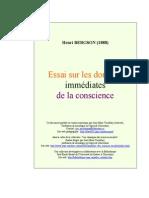 Bergson - Essai sur les données immédiates de la conscience