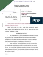 Redlined Proposed Amended Complaint Lindell v DM