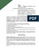 4) Solicito autorización para inicio de actividades - TAXI