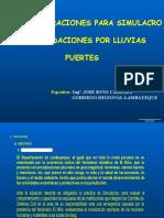 sIMULACRO DE iNUNDACIÓN pOR LLUVIAS FUERTES