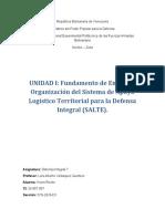 UNIDAD I Defensa Integral (SALTE). Kevin Roche CI 26857907