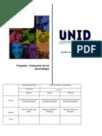 Programa de Evaluación de Los Aprendizajes