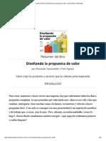 Resumen del libro 'Diseñando la propuesta de valor', de Alexander Osterwalder