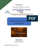 Exposé sur les Tunnels