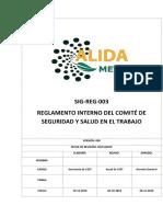 Sig-reg-003 Reglamento Interno Del Csst