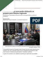 Venezuela elege novo poder eleitoral e se prepara para | Internacional