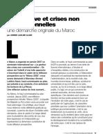 Prospective et crises non conventionnelles Une démarche originale du Maroc