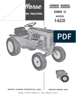 WheelHorse Raider 12 owners manual 1-6231_357