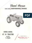 WheelHorse GT14 owners Manual 1-7441