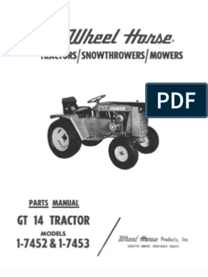 WheelHorse GT 14 Parts and accesories manual | Business