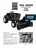 WheelHorse snow thrower completing package manual 6-9111