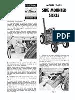 WheelHorse Side mounted Sickle Mower Owners Manual 7-1311_375