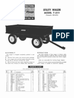 WheelHorse Utility Wagon Owners manual 7-2111_258