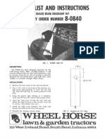 WheelHorse light kit for the A-60 tractor  8-0840