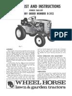 WheelHorse Power take off manual 8-3112