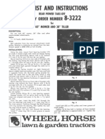 WheelHorse rear Power take off manual 8-3222