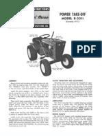 WheelHorse Power take off manual 8-3311