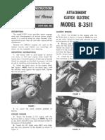 WheelHorse electric clutch conversion manual 8-3511