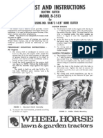 WheelHorse electric clutch conversion for post 1970 tractors  8-3513