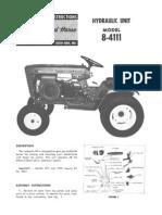 WheelHorse hydraulic lift accessory for 845 and 1045 tractors  8-4111