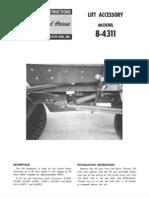 WheelHorse snow blower lift assist accessory 8-4311