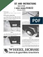WheelHorse grass catcher for lawn ranger manual  8-6632