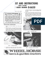 WheelHorse grass bagger for the A-100 lawn tractor owners manual 8-6650