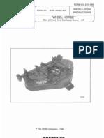 WheelHorse 36 inch Rear Discharge Deck installation instructions 78305
