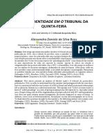 BOOS Alessandra 2020 ANNUÁRIO Aids identidade em O tribunal da quinta-feira