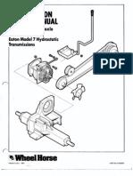 WheelHorse Eaton model 7 service manual